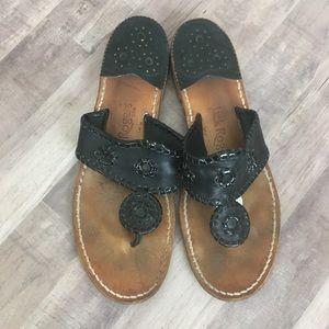 Jack Rogers 9 Black Leather Sandals